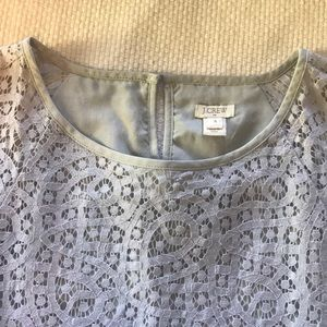 💐J.Crew lace top with scalloped trim